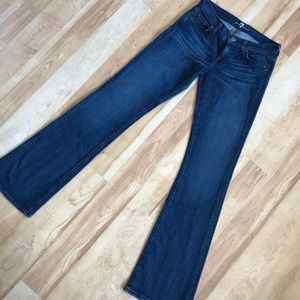 Size 25 7 for all mankind bootcut jeans